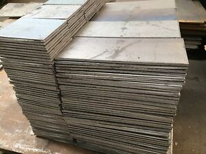 1 4 250 Steel Plate 10 X 10 Flat Bar A36 With 1 2 Holes On Corners 2pcs Set