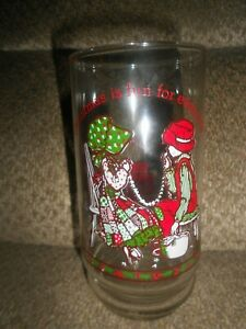 VINTAGE HOLLY HOBBIE COLLECTIBLE COCA-COLA DRINKING GLASS-LIMITED EDITION-GREAT