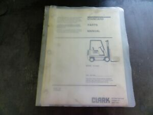 Clark Gp138mc Forklift Parts Manual 2745330