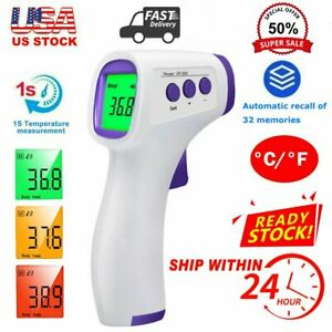 Digital Infrared Thermometer Non contact Forehead Baby Adult Temperature Gun Lcd