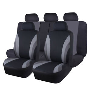 Universal Car Auto Seat Covers Black Gray Breathable Fit For Suv Truck Suv Honda