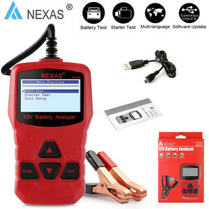 12v Battery Load Tester Automotive Starting Charging Test Digital Analyzer Tool
