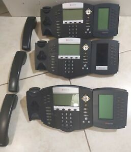 3 pack Polycom Soundpoint Ip650 Digital Business Phone With Bem Add on