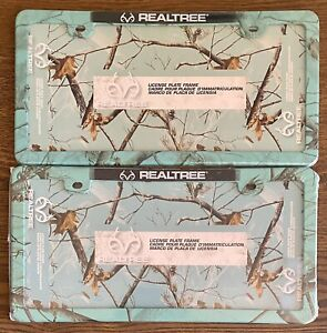 Lot Of 2 Realtree License Plate Frame Mint Camouflage Thinner Design