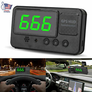 3 Car Digital Gps Speedometer Head Up Display Overspeed Mph Km H Warning Alarm