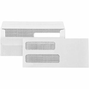 500 No 10 Flip And Seal Double Window Security Envelopes Perfect Size For 4 X