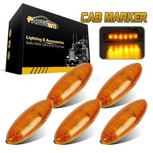 Set 5 Cab Clearance Roof Running Top 6 Led Amber Light For Freightliner Cascadia