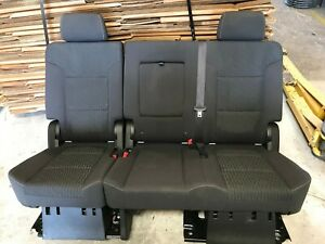 2015 2018 Suburban Escalade Esv Yukon Tahoe 2nd Row Black Cloth Seats