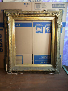 Rare Victorian Gesso Picture Frame Fits 20 By 24 Painting Civil War Era