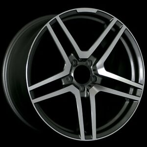 18 Gunmetal 5x112 Wheels Staggered Set Fits Mercedes S Cls Sl Cl Amg E55 45 Mm