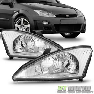 2000 2004 Ford Focus Headlamps Headlights Replacement 00 01 02 03 04 Left Right