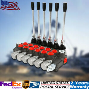 6 Spool 11gpm Hydraulic Directional Control Valve Adjustable For Tractor Loader