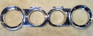 1964 Dodge Polara Headlight Bezels Inner And Outter Both Sides Used Nice