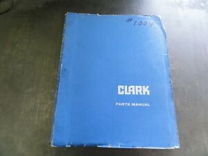 Clark C40 Forklift Parts Manual