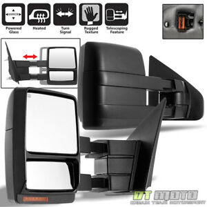 Left right 2004 2006 Ford F150 Truck Power heated led Signal Towing Side Mirrors