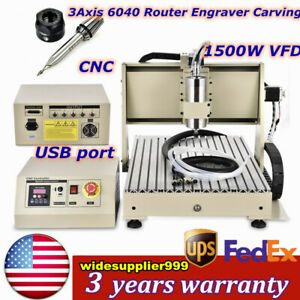 Cnc 6040 Router Usb 3axis Engraver Engraving Machine Milling drilling 1500w Top