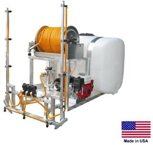 Sprayer Commercial Skid Mounted 9 5 Gpm 580 Psi 100 Gal Tank 12 Ft Boom