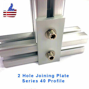 2 Hole Joining Plate 4040 8020 Aluminum Profile Extrusion Accessory set Of 2