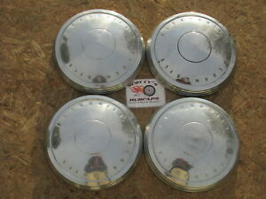 1970 72 Oldsmobile Cutlass W30 F85 Poverty Dog Dish Hubcaps Set Of 4
