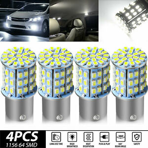 4pcs Super White 64 Smd Led 1156 1141 1003 Rv Camper Trailer Interior Light Bulb