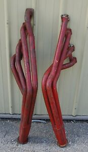 428 390 Ford Big Block Long Tube Competition Headers Red Used
