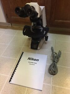 Nikon Eclipse E200 f Microscope 4 Infinity Lenses Mechanical Stage Working