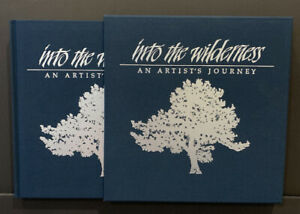 """Stephen Lyman Deluxe Signed Book """"Into The Wilderness"""" Linen Bound With Case $65.00"""