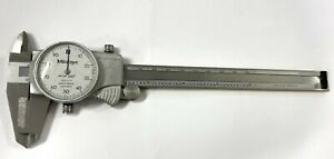 Mitutoyo 505 675 Dial Caliper With Tin Coated Beam 0 6 Range 001 Graduation