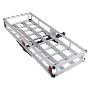 Aluminum Hitch Mount Cargo Carrier Truck Luggage Basket Weight Capacity 500lbs