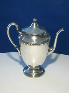 Antique Silver Plate Lidded Teapot Coffeepot By F B Rogers Taunton Ma