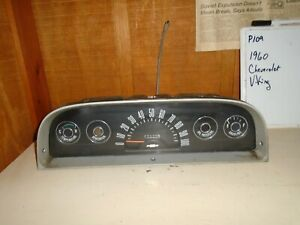 Used 1960 Chevrolet Viking Dash Instrument Cluster p109