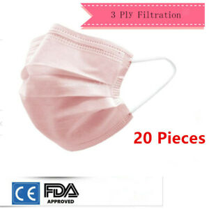 20x Disposable Face Masks Anti Particle Dust Germs Smog Protective Mouth Mask
