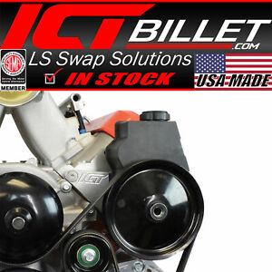 Ls1 1998 2002 Camaro Power Steering Pump Bracket Kit Z28 Firebird Ls Billet Ict