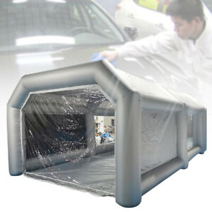 Inflatable Spray Booth Portable Paint Tent Mobile Car Paint 2 Filter System Pro