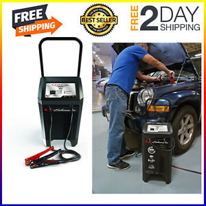 Jump Start Automotive Battery Charger Wheeled Dead Portable 200amp Heavy Duty A