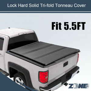 5 5ft Bed Lock Hard Solid Tri Fold Tonneau Cover Fit 09 18 Ford F 150 W Outility
