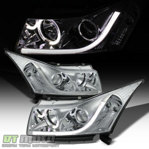 2011 2016 Chevy Cruze led Light Tube Drl Halo Projector Headlights Headlamps