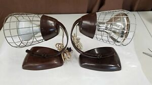 Vintage General Electric Theralux Infrared Portable Heat Lamps Chicken Lamps
