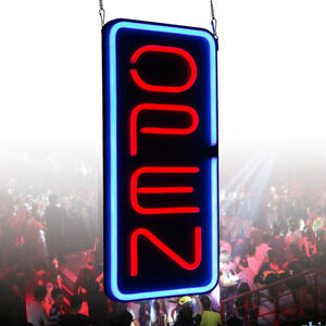 Ultra Bright Vertical Led Neon Business Open Sign Board Light 23 6 x11 8 30w