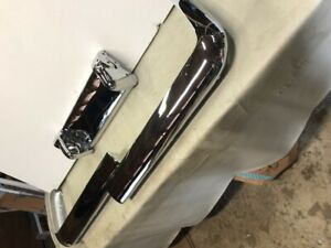 1960 Chevy El Camino wagon Rear Bumper W guards Rechromed
