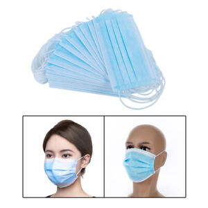 50 Pieces Disposable Face Mask Breathable Anti dust Mouth Nose Cover Protection