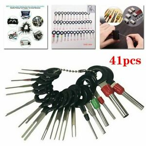 41pcs Wire Terminal Removal Tool Kit Car Electrical Wiring Crimp Connector Hot