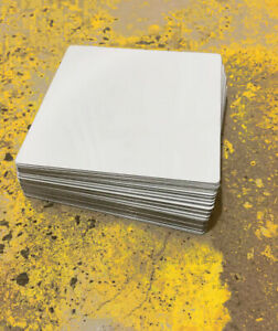 50ea Dye Sublimation Aluminum Square Blanks 2 25 X 2 25 With Round Corners