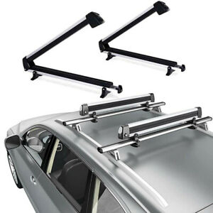 Universal Ski Roof Rack Carriers For Crossbar Carry 4 Snowboard 6 Pair Skis Us