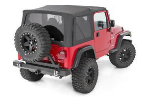 Rough Country Soft Top For 1997 2006 Jeep Wrangler Tj Half Doors Black