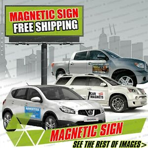 2 18x24 Custom Full Color Printed Car Magnets Magnetic Auto Truck Signs