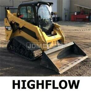 2017 Caterpillar 257d High Flow Cab Heat Air Track Skid Steer Loader Cat 257