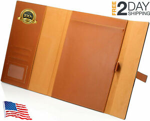 Portfolio Writing Pad Folder Fits Letter legal a4 notepads Notebooks Brown