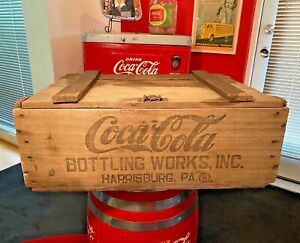 Coca Cola 1900s Railroad 48 Bottle Wooden Shipping Crate Harrisburg PA Rare!