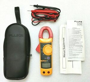 Fluke 321 Clamp Meter Electrical Tester Leads Storage Case Manual Nice Unit